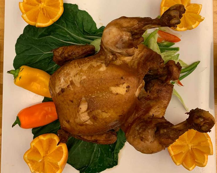 Whole chicken symbolizes wholeness and prosperity