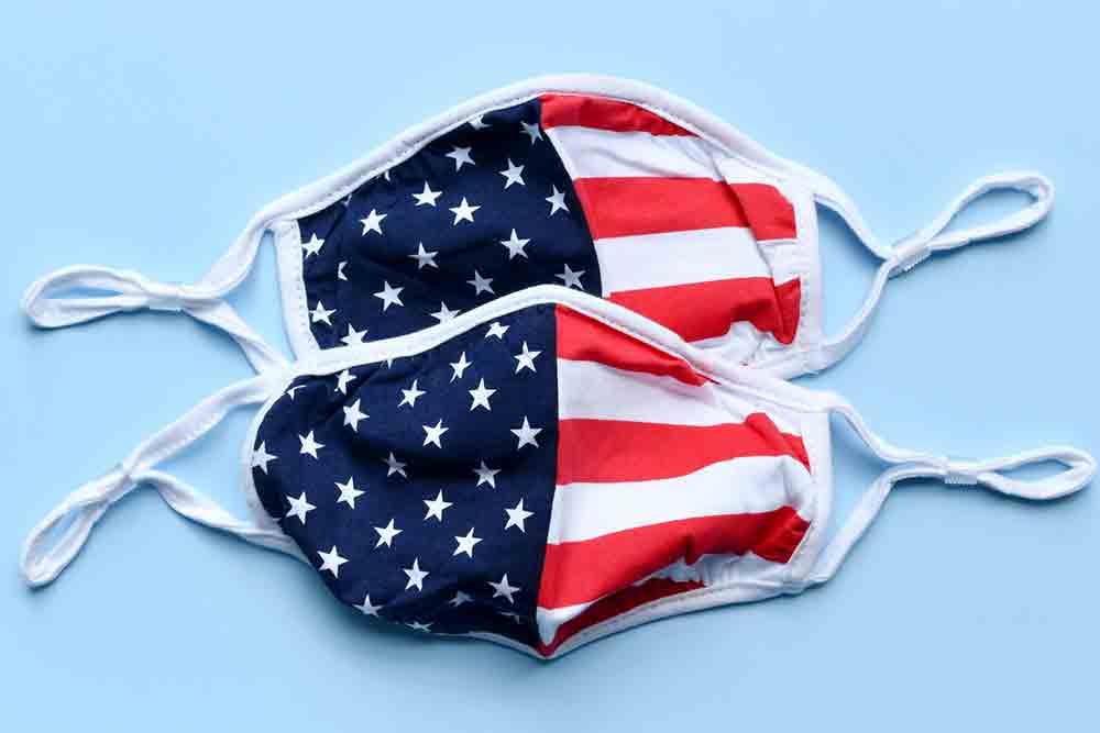 Covid flag masks