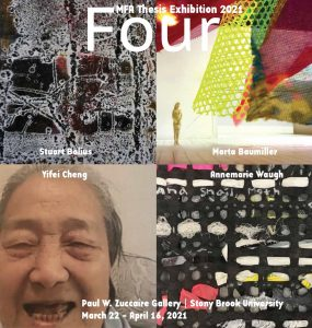 Left to right (details): Stuart Balius, Marta Baumiller, Yifei Cheng, Annemarie Waugh