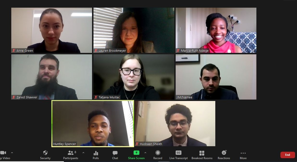 SBU Advocacy Corps members meet virtually with New York congressional staff.