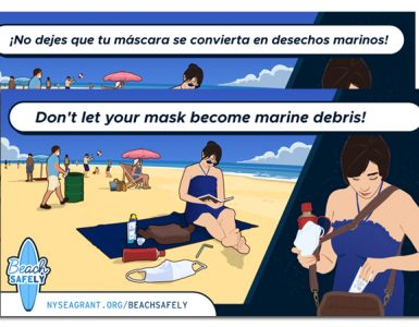 One of nine scenes created for Summer 2020's #BEachSAFEly campaign(Image credit: Joel Davenport | New York & New Jersey Sea Grant Programs)