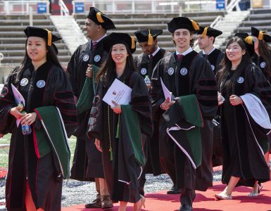 Convocation class walking