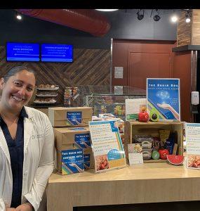 Campus Dietitian Laura Martorano helps students combat stress during finals week.