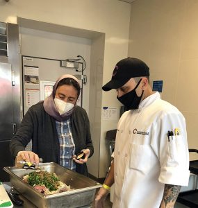 Chaplain Nadim provided training and cooked meals along with East Side Executive Chef Jerry Suppa and the Halal NY staff in preparation for Ramadan.