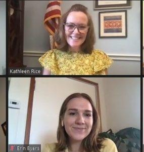 SBU Advocacy Corps members meet virtually Congresswoman Kathleen Rice.