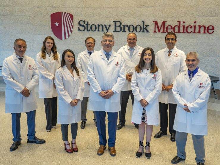 From left to right: Antonios Gasparis, MD; Lucyna S. Price, MD; Jing Li, MD; David S. Landau, MD; Apostolos K. Tassiopoulos, MD; George J. Koullias, MD, PhD; Angela Kokkosis, MD; Mohsen Bannazadeh, MD; and Nicos Labropoulos, PhD