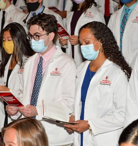 The 136 incoming medical students took their Hippocratic Oath for the first time.