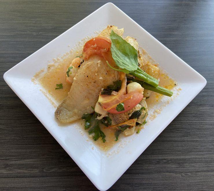 Cioppino, seafood stew with tomato broth