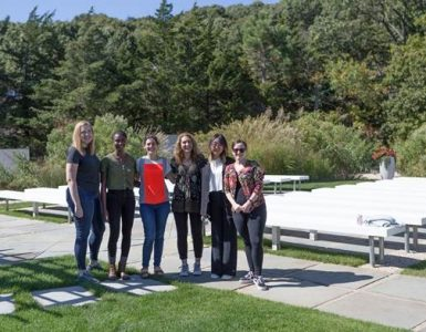 Left to right: Olivia Swanson, PhD student; Priscilla Yevoo, PhD student; Hillary Schiff, postdoc; Professor Arianna Maffei; Mowei (Vivienne) Li, undergraduate student; Melissa Haley, postdoc