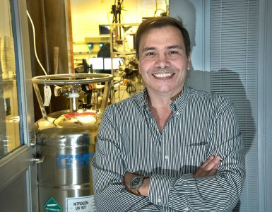 José Rodriguez conducts research into catalysts to improve clean-energy production and control environmental pollution.
